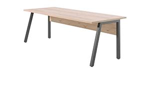 Houten Bureau Kantoor : Kantoor tafel industri le houten tafel trapeze industri le