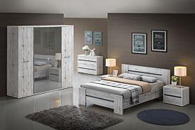 Slaapkamer Evi met bed 140x200cm - kleerkast 220cm