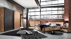Slaapkamer Detroit I met bed 180x200cm - kleerkast 250cm