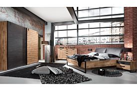 Slaapkamer Detroit II met bed 160x200cm - kleerkast 250cm