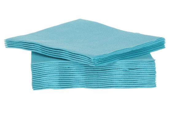 Servet CT Prof 25x25cm turquoise, 40 stuks