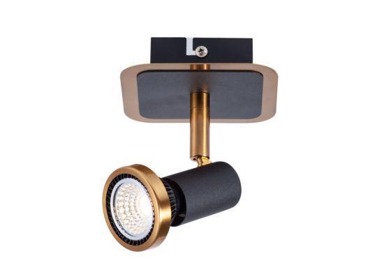 LED spot zwart brons 5W GU10