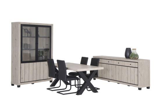Eetkamer Eureka met 4 stoelen Quartz