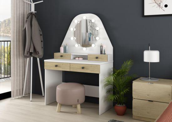 Make-up tafel Star met spiegel 100x41x147cm
