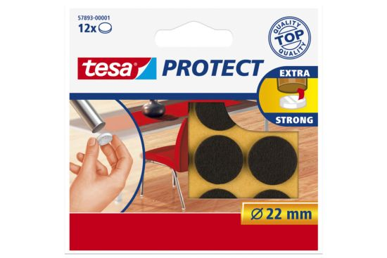 Beschermviltjes tesa Ø2,2cm bruin