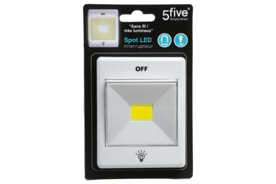 Schakelaar met LED lamp wit
