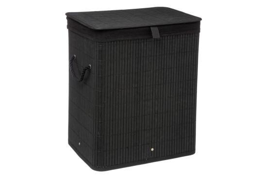 Linnenmand 40x30x50cm zwart