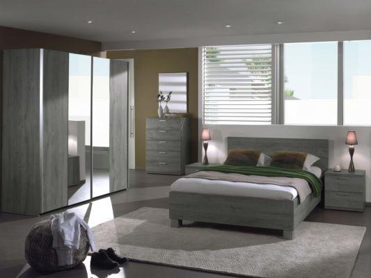 Slaapkamer Gella met bed 140x200cm - kleerkast 200cm