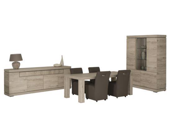 Eetkamer Etna met 4 stoelen Omega