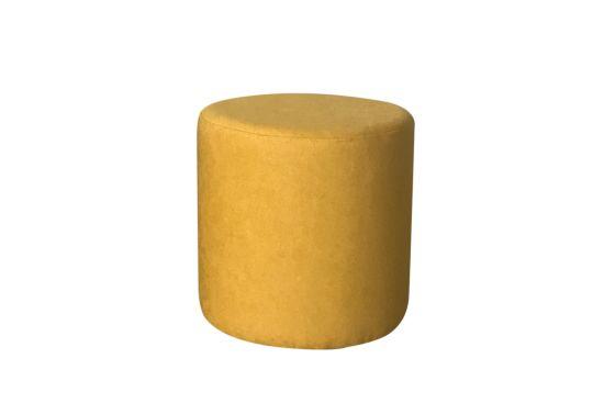 Poef Lofoten  Ø38cm stof geel