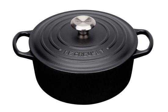 Stoofpot Le Creuset Ø20cm mat zwart