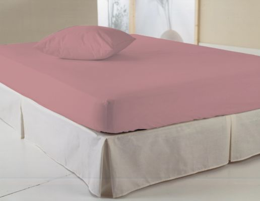Hoeslaken 180x200cm katoen roze