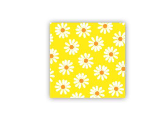 Servet Dancing Daisies 25x25cm geel