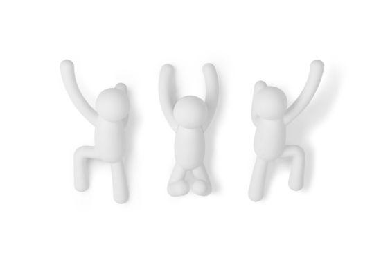 Kapstok Buddy  7,6 cm, set van 3