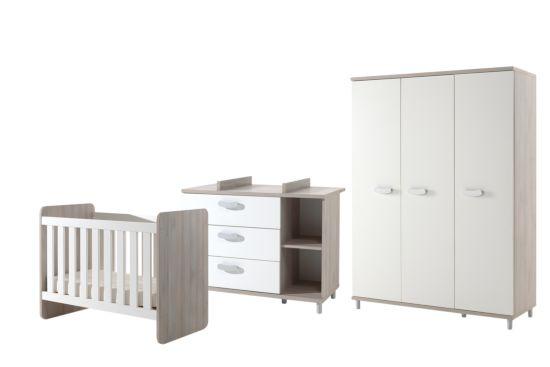 Babykamer Noor met 3-deurs kast