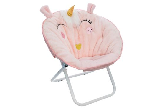 Kinderfauteuil Unicorn stof roze