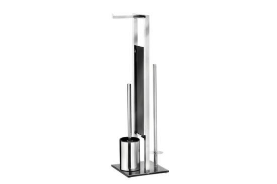 Toiletbutler Rivalta zilver zwart