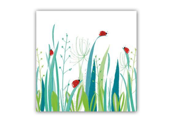 Servet Jenn&Co 25x25cm groen/rood 20 stuks
