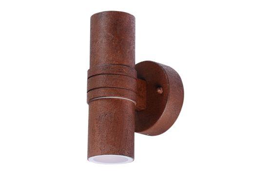 Wandlamp buiten Midi roest 2x35W GU10