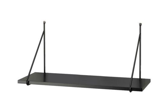 Wandplank Ruspoli 60x22x30cm zwart