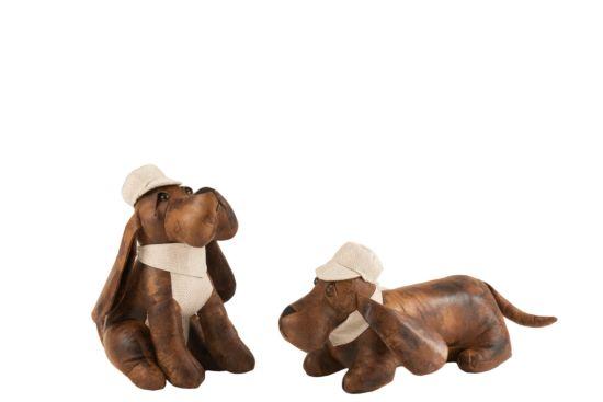 Deurstop Hond bruin beige