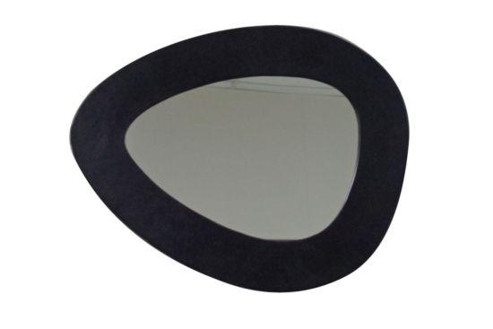 Spiegel Uovo 67x53cm zwart