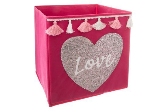 Opbergbox Sequin Love 29x29x29cm
