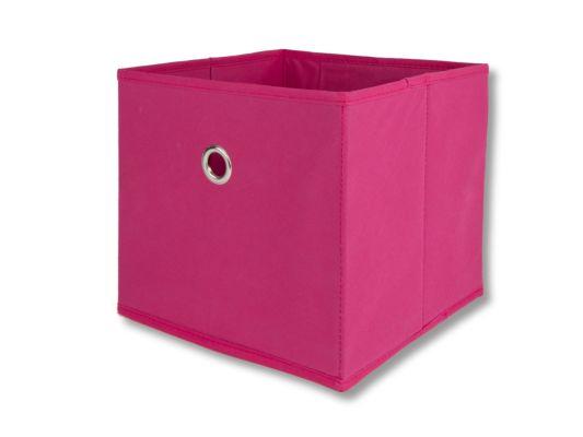 Opbergbox Aha 25x25x22cm roze