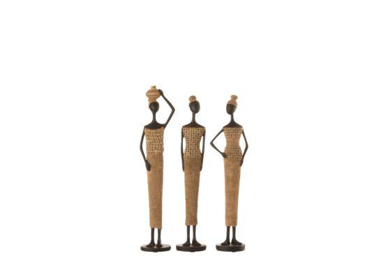 Beeld Afrikaans figuur H43cm
