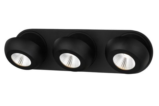 LED spot met 3 spots 7W zwart