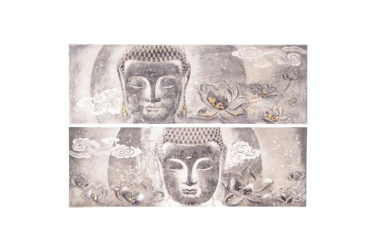Schilderij Buddha 60x180cm