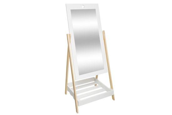 Spiegel staand met plank  40x46,5x102cm