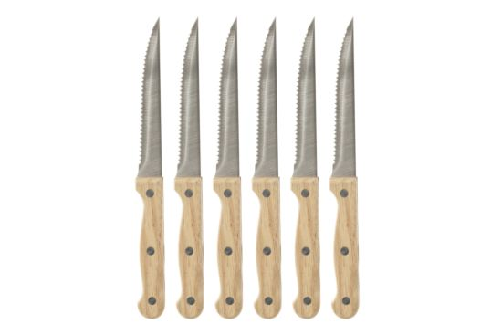 Steakmes Wood set van 6
