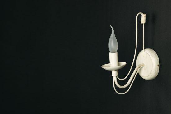 Wandlamp avorio E14