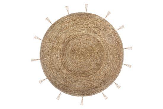 Rond tapijt Lurex Ø80cm flatweave