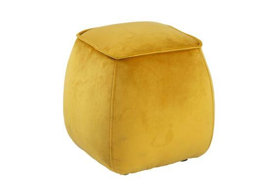 Poef 40x40x40cm geel