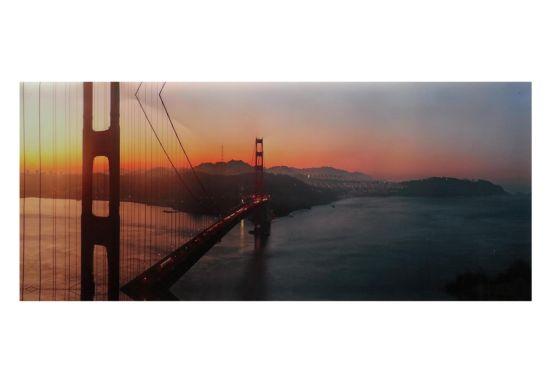 Foto op canvas Golden gate 40x100cm