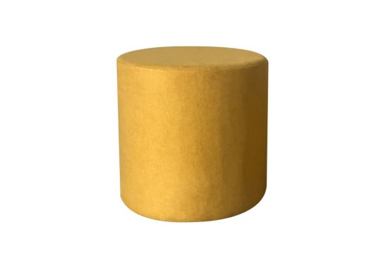 Poef Lofoten  Ø46cm stof geel