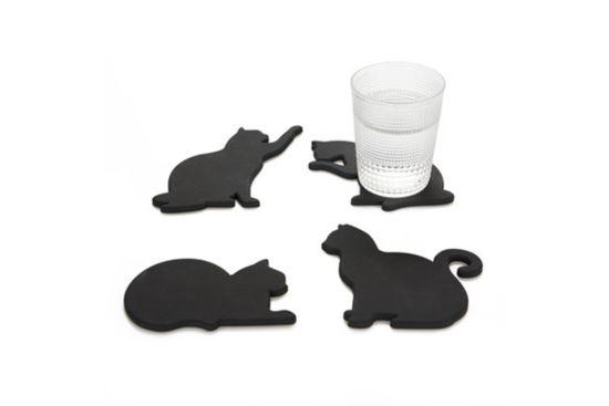 Onderzetters voor glazen CAT set van 4