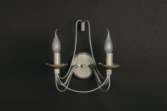 Wandlamp avorio+grijs E14