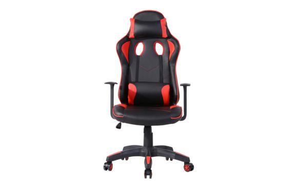 Bureaustoel Opulent zwart rood