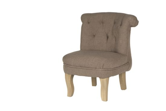 Kinderfauteuil Fontane stof taupe
