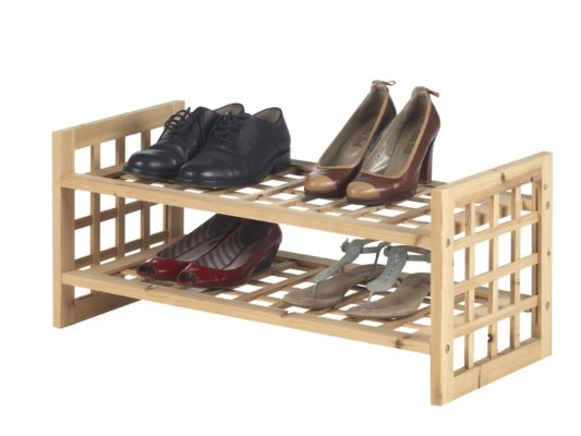 Schoenenrek hout 70x32x32cm