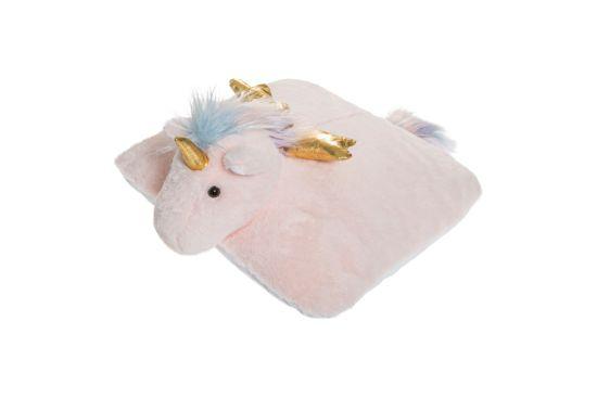 Kussen Unicorn 39x39cm roze