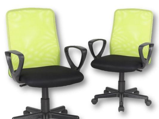 Bureaustoel Mosquito groen zwart