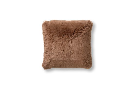 Kussen Fluffy 60x60cm tobacco brown