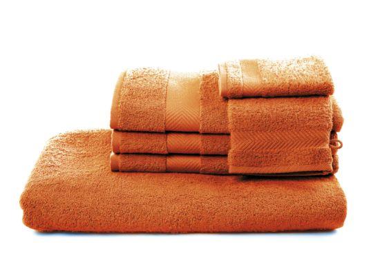 Gastendoekje Royal Touch 30x30cm orangered
