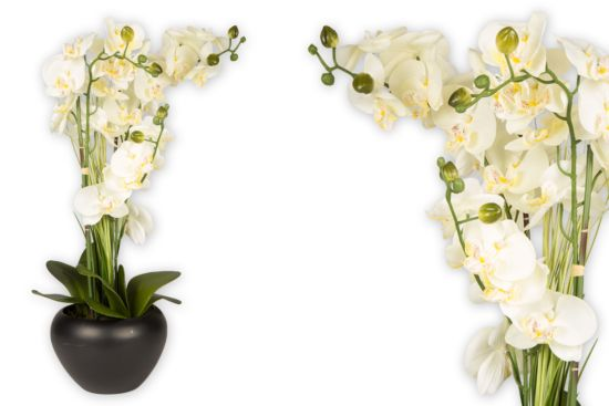 Kunstbloem Orchidee H63cm