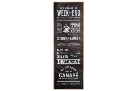 Doek met print Week-end 30x90cm
