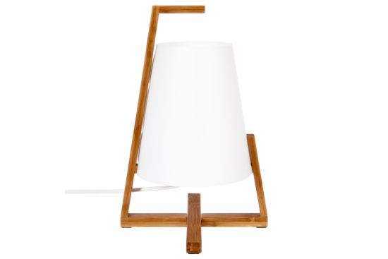 Tafellamp Bamboe E14 H32cm wit